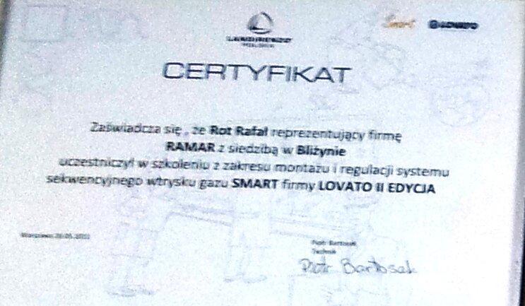 Certyfikat SMART LOVATO II