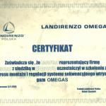 Certyfikat LANDIRENZO Polska - instalacje OMEGAS