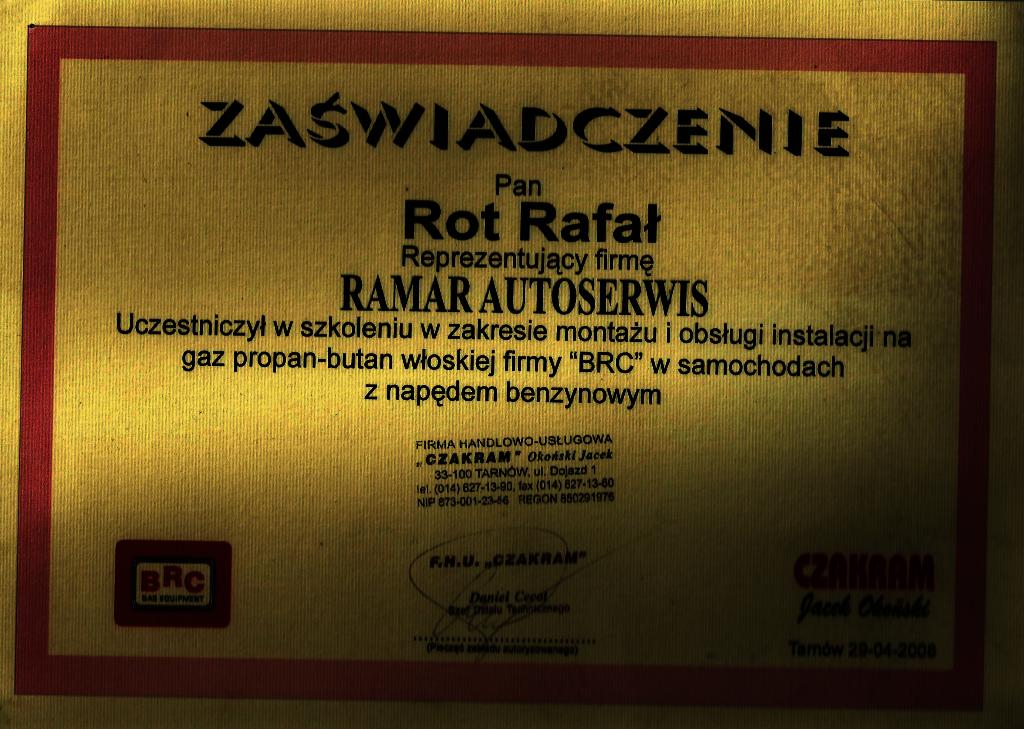 Autoryzowany serwis Czakram - Rafał Rot